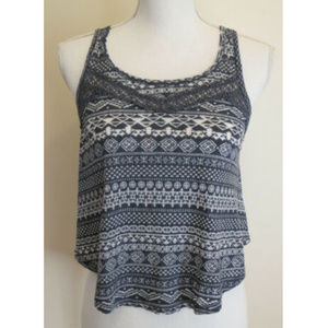 HOLLISTER Cropped Crop Top Crocheted Size XS